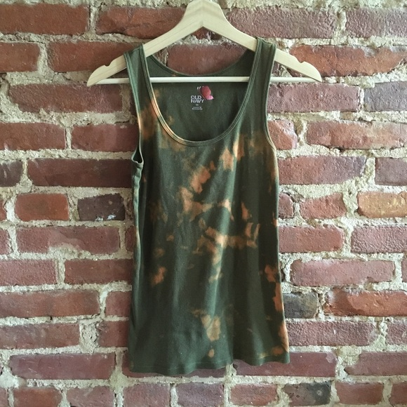 Bleach Dyed Old Navy Tank Top XL!